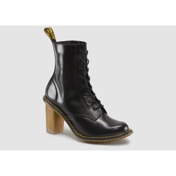 Herbst Schuhe beliebte Geschäfte outlet Dr Martens   Sadie Heeled Boots Black SUPER RARE